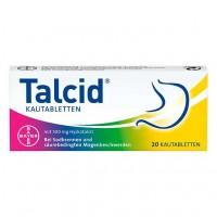 Жевательные таблетки от изжоги TALCID Kautabletten 20 шт Bayer
