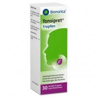 Капли для лечения горла TONSIPRET Tropfen 30 мл Bionorica