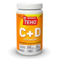 Витамин Teho C+D-vitamiini 80 жевательных таблеток Bioteekki