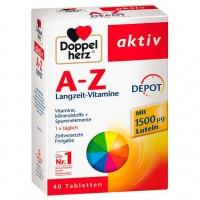 Таблетки мультивитамин DOPPELHERZ A-Z Depot Tabletten 40 шт DoppelHerz