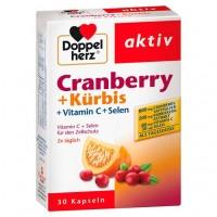 Витамины Клюква + Тыква DOPPELHERZ Cranberry+Kürbis Kapseln 30 шт DoppelHerz