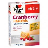 Витамины Клюква + Тыква DOPPELHERZ Cranberry+Kürbis Kapseln 60 шт DoppelHerz