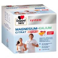 Гранулы с магнием и кальцием DOPPELHERZ Magnesium+Kalium Citrat system Granulat 40 шт DoppelHerz