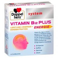 Ампулы с с витамином B12 DOPPELHERZ Vitamin B12 Plus system Trinkampullen 10X25 мл DoppelHerz