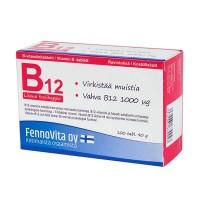 Витамин B12 + Фолиевая кислота  для памяти B12-vitamiinivalmiste 100 таблеток FennoVita