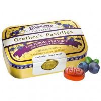 Леденцы с витамином С с черникой GRETHERS Blueberry zuckerfrei Pastillen 110 гр Hager Pharma