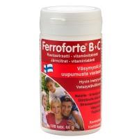 Витамины с железом Ferroforte B + C 120 таблеток Hankintatukku