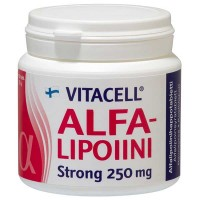 Альфа-липоевая кислота Vitacell Alfalipoiini Strong 250 mg 120 таблеток Hankintatukku