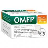 Капсулы для понижения кислотности в желудке OMEP HEXAL 20 mg magensaftresistente Hartkapseln 14 шт HEXAL