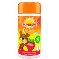 Витамин С для детей клубничный вкус C-vitamiini Junior жевательные таблетки 80 шт Minisun