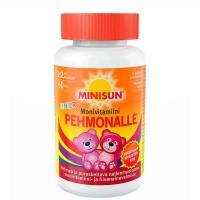 Жевательные мультивитамины  для детей мишки PEHMONALLE MONIVITAMIINI JUNIOR PEHMEA 60 шт Minisun