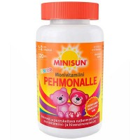 Жевательные мультивитамины  для детей мишки PEHMONALLE MONIVITAMIINI JUNIOR PEHMEA 120 шт Minisun