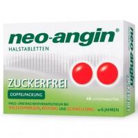 Препарат от боли в горле без сахара Neo Angin Halstabletten zuckerfrei 48 шт NEO ANGIN