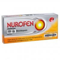 Капсулы от лихорадки и головной боли NUROFEN Immedia 200 mg Weichkapseln 10 шт Nurofen