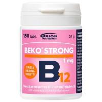 Витамины таящие во рту BEKO STRONG B12 1 мг SUUSSA HAJOAVA 150 таблеток Orion