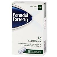 Таблетки жаропонижающие PANADOL FORTE 1 G KALVOPÄÄLLYSTEINEN 15 шт GlaxoSmithKline
