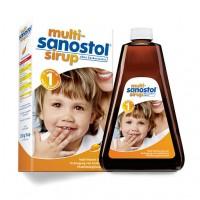 Сироп мультивитаминный без сахара для маленьких детей от 1 года MULTI SANOSTOL Sirup ohne Zuckerzusatz 260 гр Sanostol
