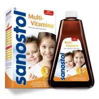 Сироп мультивитаминный без добавления сахара для детей от 3 лет SANOSTOL ohne Zuckerzusatz Saft 230 мл Sanostol
