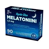 Снотворное в таблетках Hyvän Olon Melatoniini 1,5 mg 90 шт Via Naturale