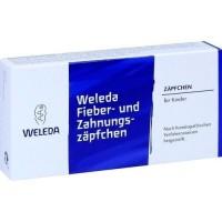 Свечи для детей от лихорадки при прорезании зубов Weleda FIEBER- UND ZAHNUNGSZÄPFCHEN 10 шт Weleda