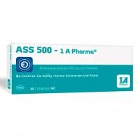 Таблетки от боли и лихорадки с ацетилсалициловой кислотой ASS 500-1A Pharma Tabletten 30 шт 1A Pharma