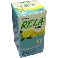 Таблетки с молочно-кислыми бактериями со вкусом лимона Rela Tabs Lemon (жевательные таблетки) 90 таблеток Rela