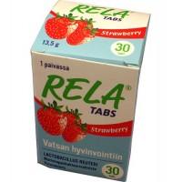 Таблетки с молочно-кислыми бактериями со вкусом клубники Rela Tabs Strawberry (жевательные таблетки) 30 таблеток Rela