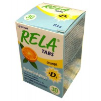 Жевательные таблетки с молочно-кислыми бактериями + D3 со вкусом апельсина Rela Tabs Orange 30 таблеток Rela