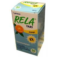 Жевательные таблетки с молочно-кислыми бактериями + D3 со вкусом апельсина Rela Tabs Orange 90 таблеток Rela