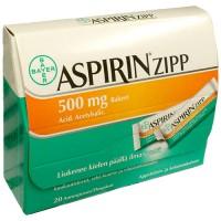 Гранулы Аспирина жаропонижающие и болеутоляющие Aspirin Zipp Rakeet 500 мг 20 пакетиков Bayer