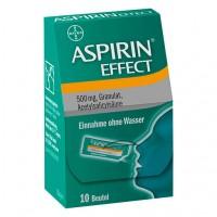 Гранулы Аспирина 500 мг таят во рту ASPIRIN Effect Granulat 10 шт Bayer