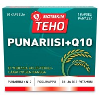 Витамины B12,B6,Q10 с красным рисом Bioteekin Punariisi+Q10 60 капсул Bioteekki