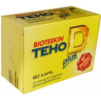 Витамины D 25 мкг Bioteekin TEHO D plus 60 таблеток Bioteekki