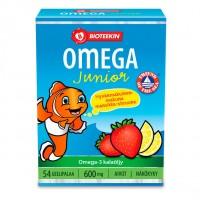 Рыбий жир Omega Junior для детей 54 капсулы Bioteekki