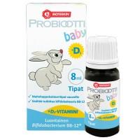 Капли с молочно-кислыми бактериями с Д3 для маленьких детей Probiootti baby + D3 8 мл Bioteekki