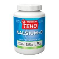 Витамин с кальцием со вкусом яблока Teho Kalsium + D 80 жевательных таблеток Bioteekki