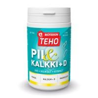 Витамины Кальций Магний Кремний и витамин D Bioteekin Teho PII & Kalkki + D 300 таблеток Bioteekki