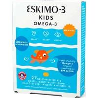 Жевательные капсулы для детей Рыбий жир Eskimo-3 Kids Omega-3 +витамин D 27 шт Bringwell