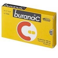 Таблетки жаропонижающие и болеутоляющие Burana-С 400/300 мг покрытые оболочкой 10 шт. Burana