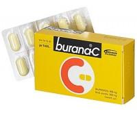 Таблетки жаропонижающие и болеутоляющие Burana-С 400/300 мг покрытые оболочкой 20 шт. Burana