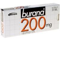 Таблетки жаропонижающие и болеутоляющие Burana 200 мг покрытые оболочкой 20 шт. Burana