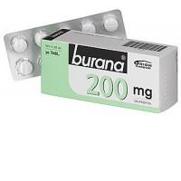 Таблетки жаропонижающие и болеутоляющие Burana 200 мг покрытые оболочкой 30 шт. Burana