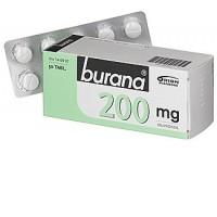 Таблетки жаропонижающие и болеутоляющие Burana 200 мг покрытые оболочкой 50 шт. Burana