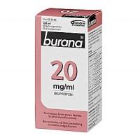 Раствор жаропонижающий и болеутоляющий Burana 20 мг 100 мл. Burana