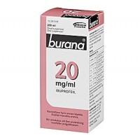 Раствор жаропонижающий и болеутоляющий Burana 20 мг 200 мл. Burana