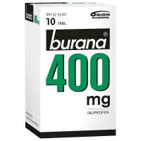 Таблетки жаропонижающие и болеутоляющие Burana 400 мг покрытые оболочкой (банка) 10 шт. Burana