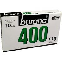 Таблетки жаропонижающие и болеутоляющие Burana 400 мг покрытые оболочкой 10 шт. Burana