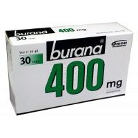 Таблетки жаропонижающие и болеутоляющие Burana 400 мг покрытые оболочкой 30 шт. Burana