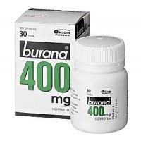 Таблетки жаропонижающие и болеутоляющие Burana 400 мг покрытые оболочкой (банка) 30 шт. Burana