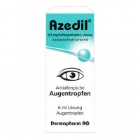 Капли для глаз от аллергии с азеластин гидрохлоридом AZEDIL 0,5 mg/ml Augentropfen Lösung 6 мл DERMAPHARM